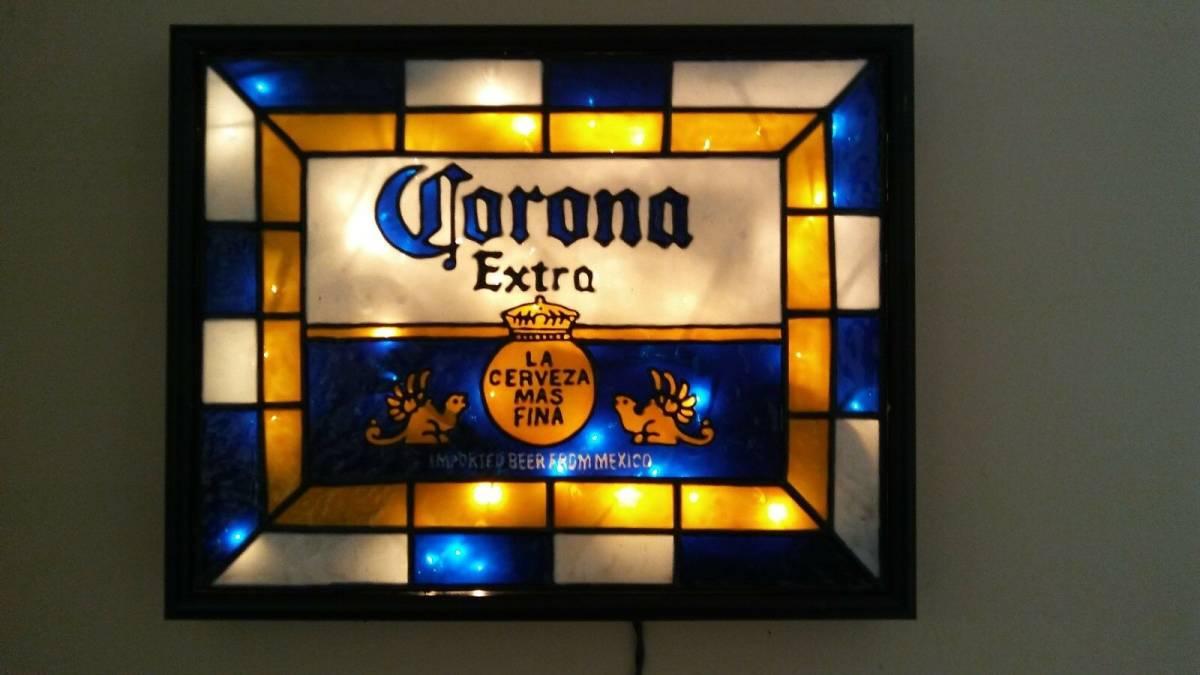 ビンテージ CORONA コロナ ビール ライト付き 看板 インスパイア 希少品