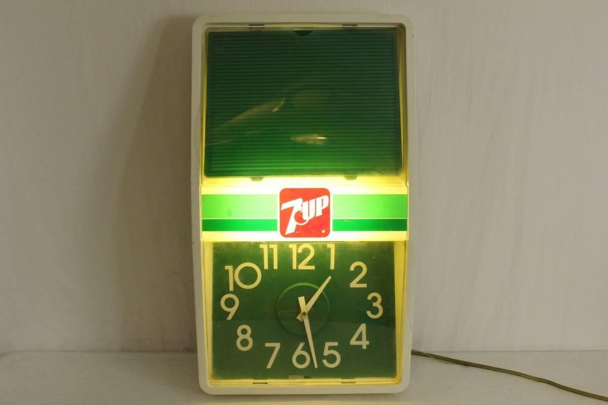 ビンテージ 7 UP ライト付き時計 アメリカ製 1989年 希少品