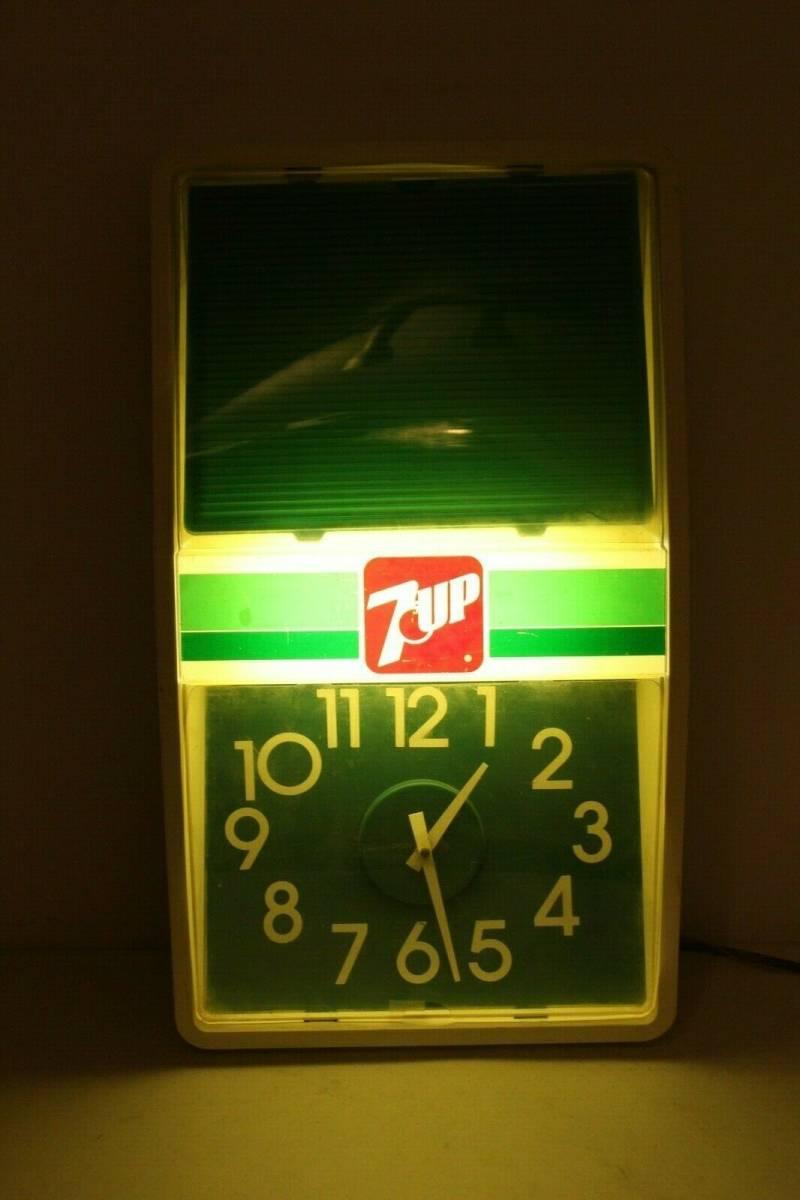 ビンテージ 7 UP ライト付き時計 アメリカ製 1989年 希少品_画像2