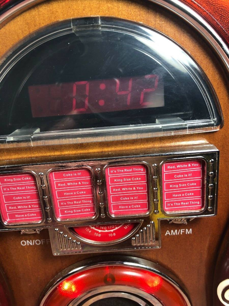 コカ・コーラ ジュークボックス AM/FMラジオ _画像5