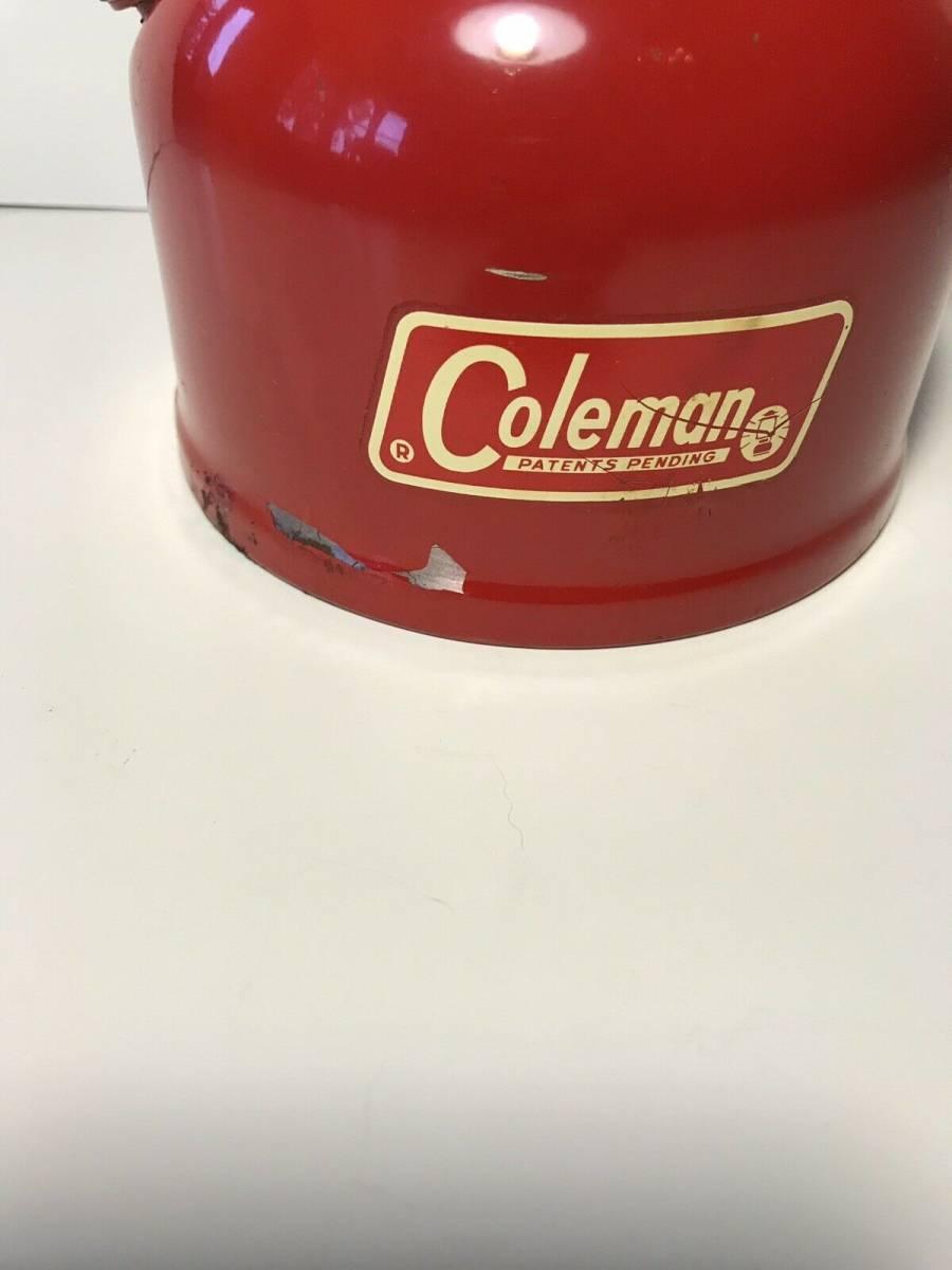 Coleman コールマン ランタン 赤 モデル200A アメリカ製 希少品_画像9