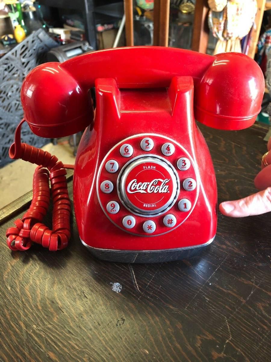 Coca-Cola コカ・コーラ 押しボタン 電話 希少品