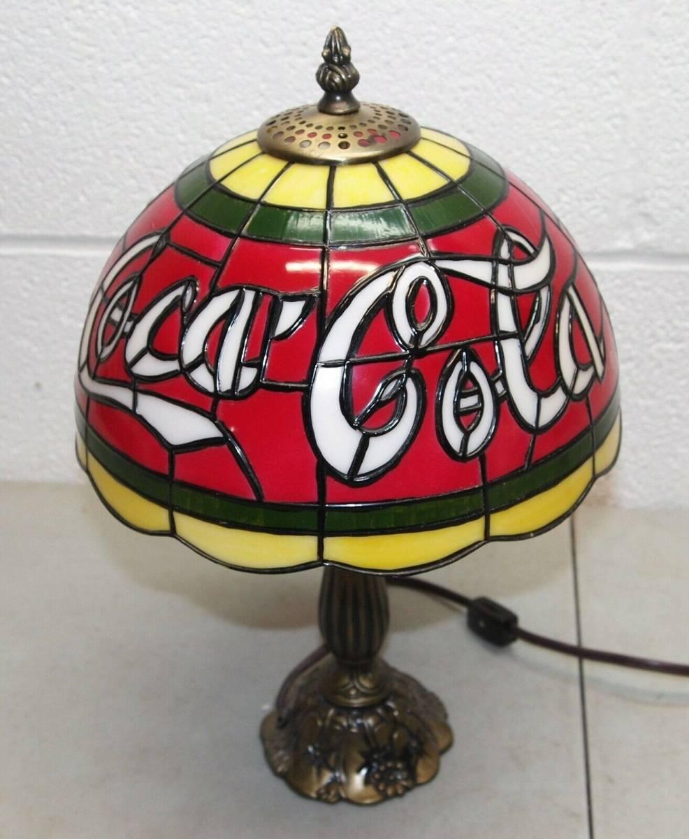 Coca-Cola コカ・コーラ ティファニーランプ 照明 希少品_画像2