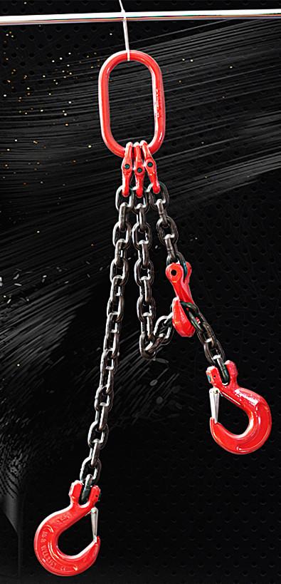 (▽′)ψ《新品未使用》スリング3本フック荷重2トンの合金鋼鍛造強力バックルクランプ長さ約100cm_画像4