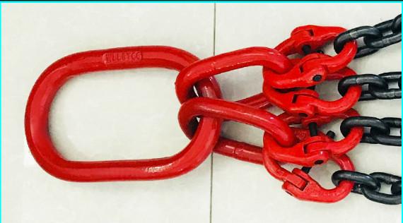 ω<新品未使用>ω スリング4本フック荷重5トンの合金鋼鍛造強力バックルクランプ長さ約150cm_画像8