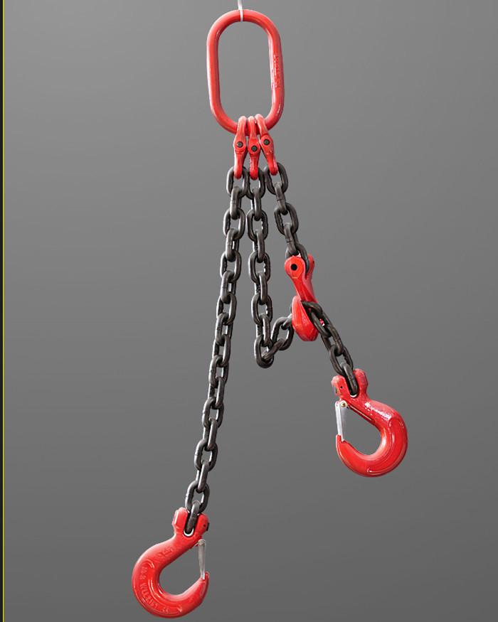 (▽′)ψ《新品未使用》スリング3本フック荷重2トンの合金鋼鍛造強力バックルクランプ長さ約100cm_画像2