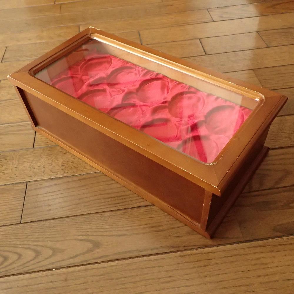 【断捨離品】懐中時計用 収納 コレクションケース 木製 30個収納 3段引き出し_画像4