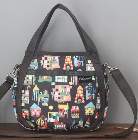 man and woman use BAG * pretty shoulder bag Le Sportsac handbag both for house black