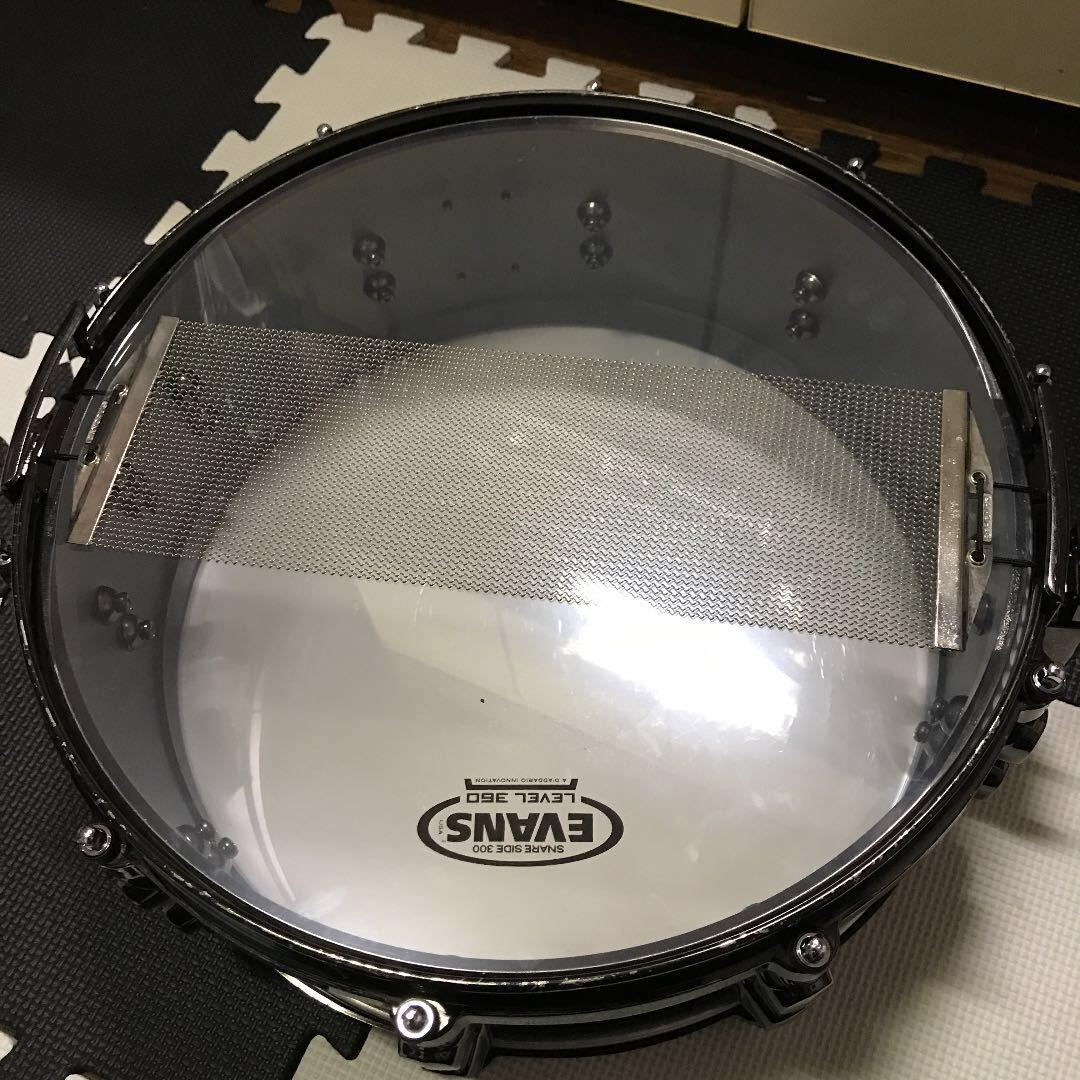 Mapex Black Panther Snare Solid Steel 3/5mm 中古 メイペックス dw TAMA_画像3
