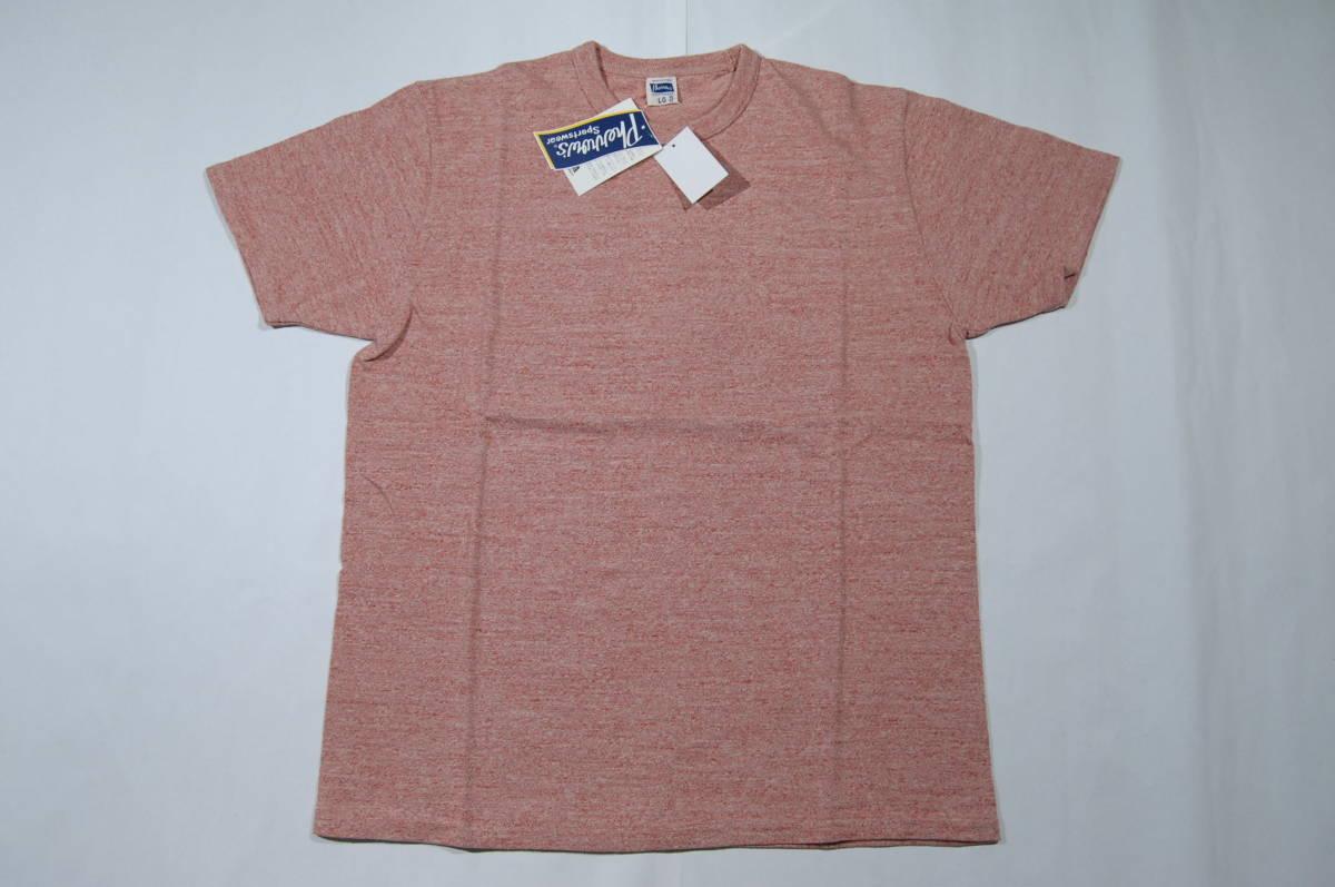 Pherrow's フェローズ 10S-PAT クルーネックTシャツ 杢レッド 40