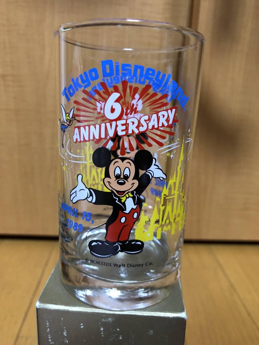 即決あり★希少未使用★1989年東京ディズニーランド 6周年記念グラス+おまけマグカップ★ミッキーマウス、ミッキーマウス、TDL★_画像3