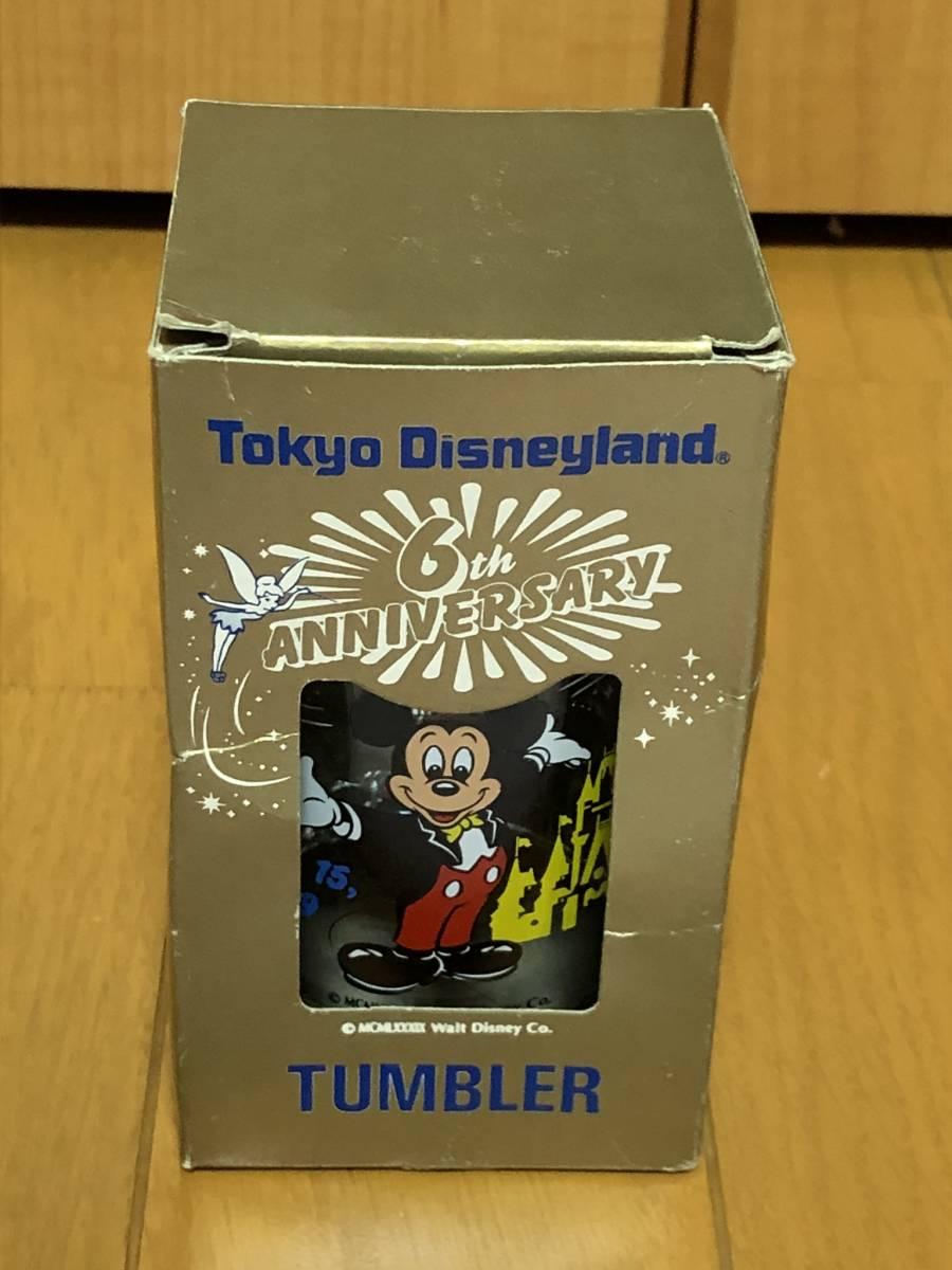 即決あり★希少未使用★1989年東京ディズニーランド 6周年記念グラス+おまけマグカップ★ミッキーマウス、ミッキーマウス、TDL★_画像4