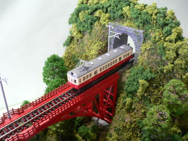 ジオラマ車両展示台  ~赤いアーチ橋~ 照明付き 28cmX43cm_画像8