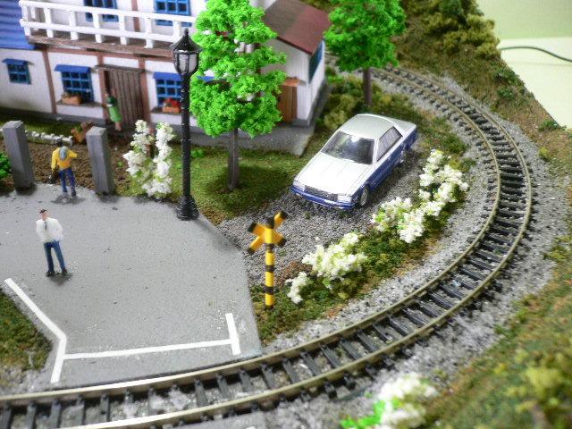 ジオラマレイアウト  ~トーマスが行く~ 車輛・ 照明付き 33cmX48cm_画像4