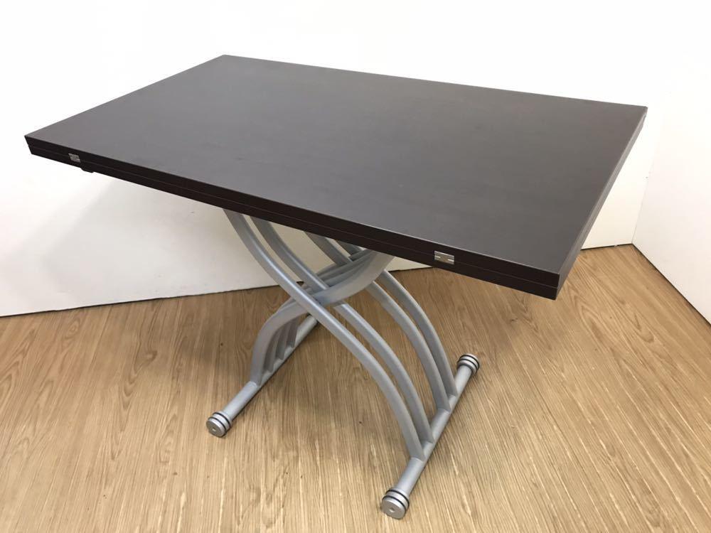○OZZIO オッジオ 昇降テーブル リフティングテーブル リフトアップテーブル 拡張 伸縮 イタリア製○_画像5