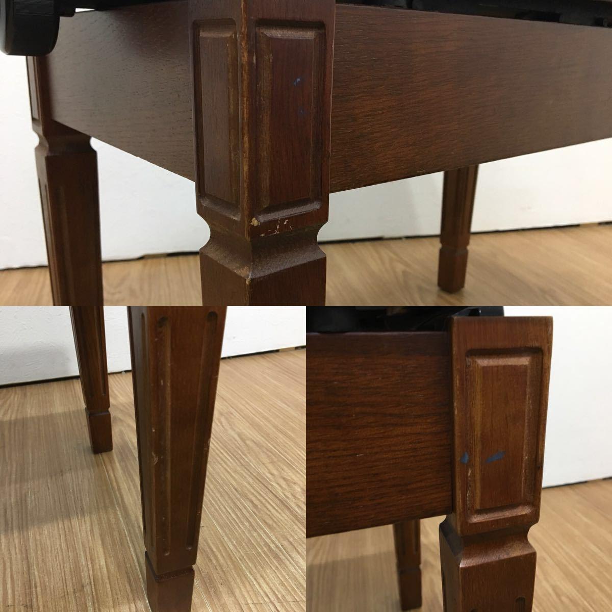 ◇ ピアノイス ピアノチェア 高低自在椅子 高さ調節可能 ブラウン ◇_画像8