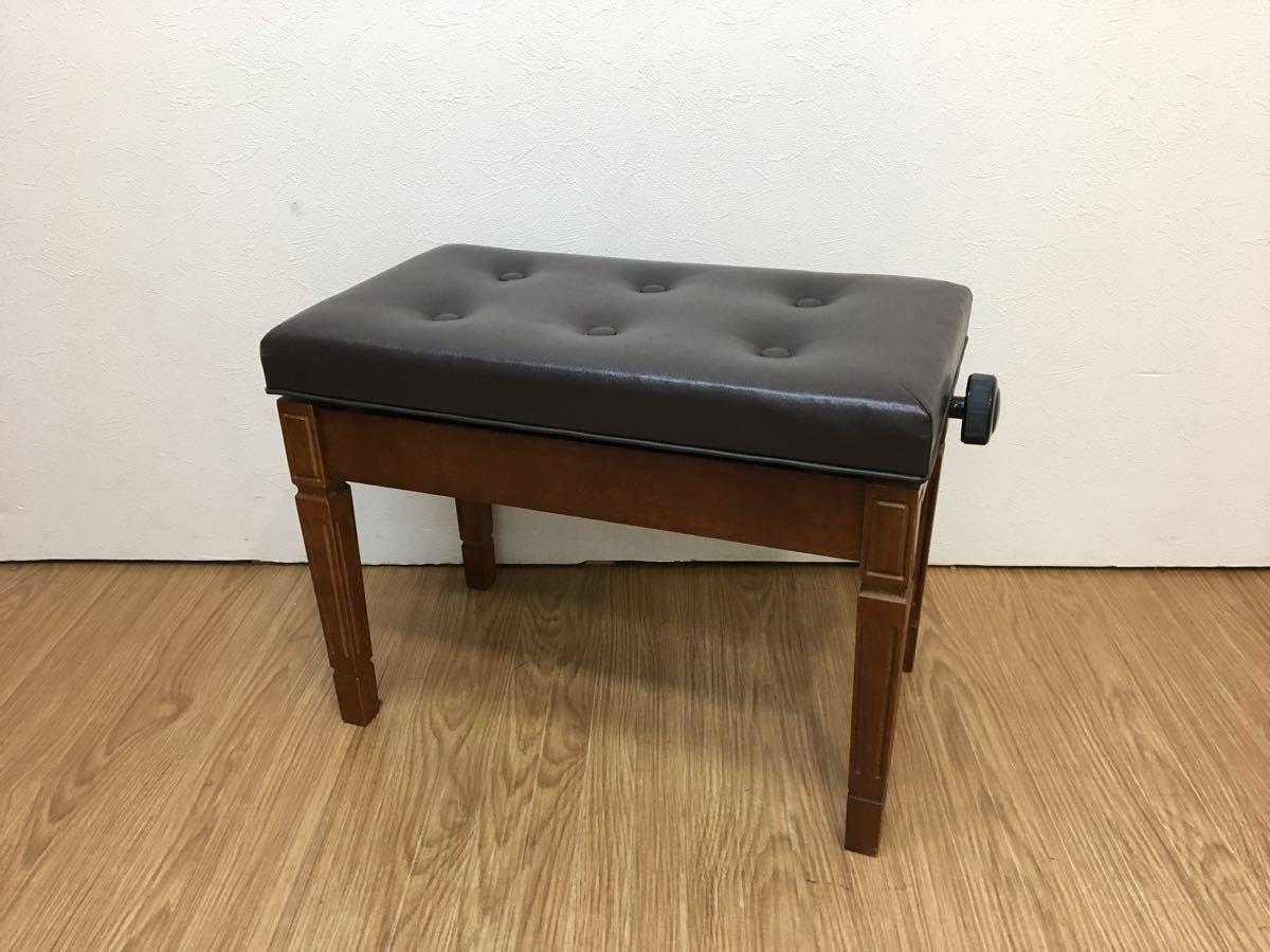 ◇ ピアノイス ピアノチェア 高低自在椅子 高さ調節可能 ブラウン ◇_画像1