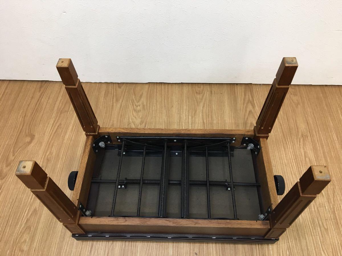 ◇ ピアノイス ピアノチェア 高低自在椅子 高さ調節可能 ブラウン ◇_画像7