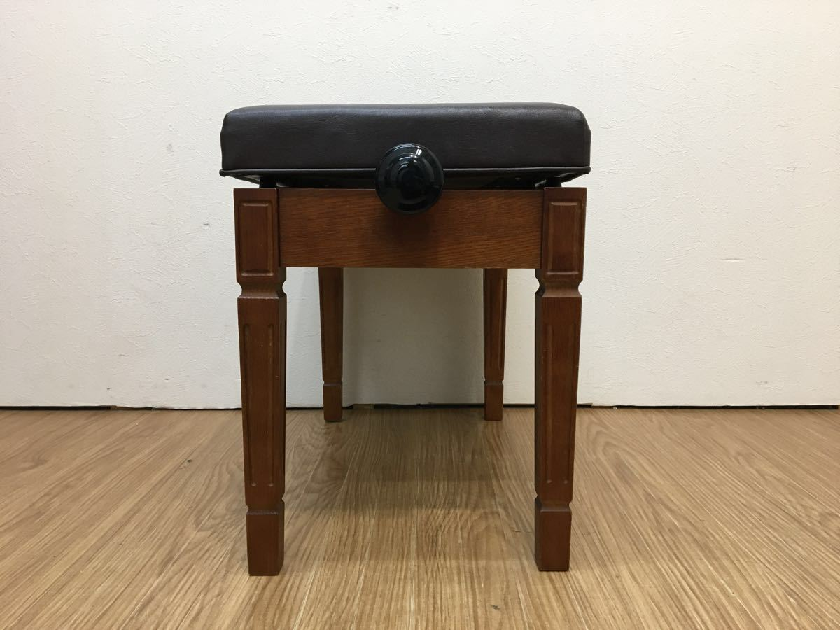 ◇ ピアノイス ピアノチェア 高低自在椅子 高さ調節可能 ブラウン ◇_画像3