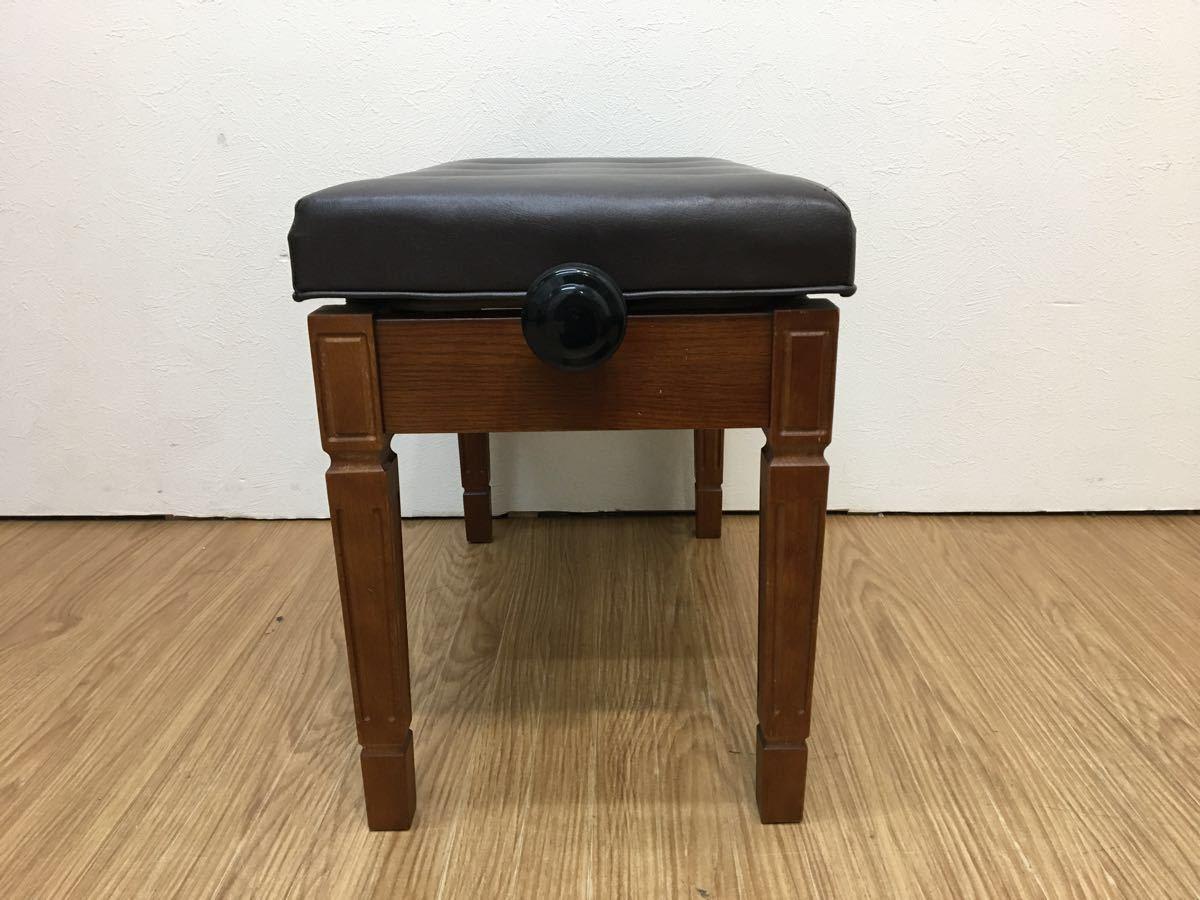 ◇ ピアノイス ピアノチェア 高低自在椅子 高さ調節可能 ブラウン ◇_画像5