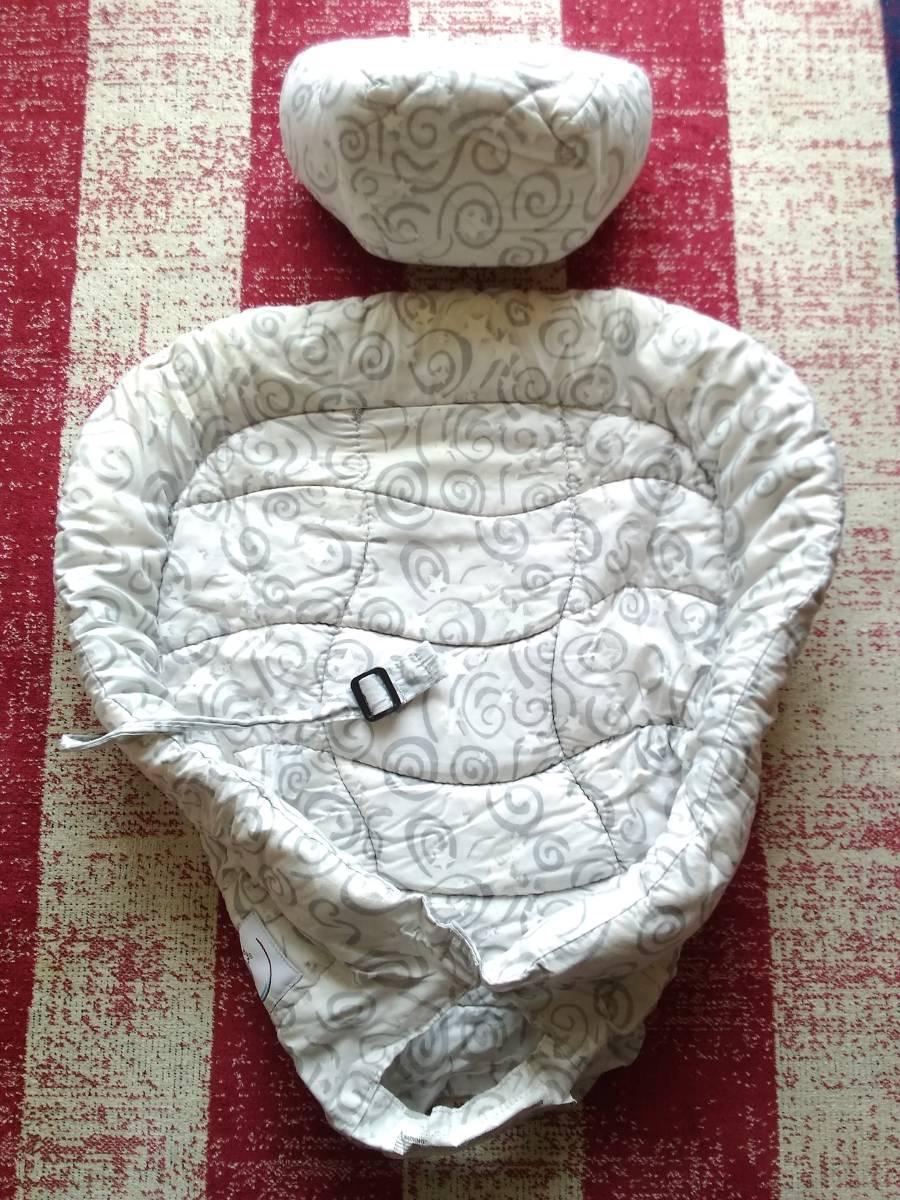 中古品★箱あり★ERGO baby infant insert 2 エルゴ ベビー インファイト インサート グレー 渦巻き柄 赤ちゃん用品 ベビー用品_画像4