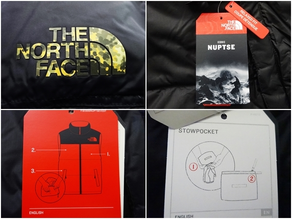 新品 1996年レトロデザイン 米国M ノースフェイス ヌプシベスト 700フィル L XL ヌプシダウンジャケット The North Face Nuptse Vest_画像6