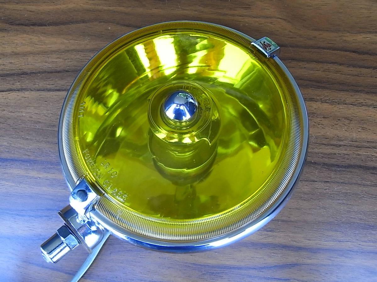 美品 LUCAS LR10 レアなイエロー スポットランプ 6インチ ルーカス / BMC MINI MG LOTUS ミニ AUSTIN MORRIS ADO16 TRIUMPH バンプラ
