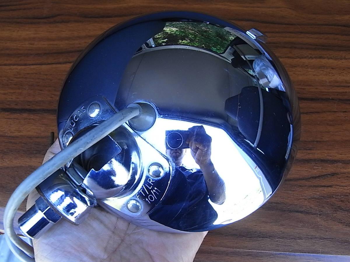 美品 LUCAS LR10 レアなイエロー スポットランプ 6インチ ルーカス / BMC MINI MG LOTUS ミニ AUSTIN MORRIS ADO16 TRIUMPH バンプラ_画像8