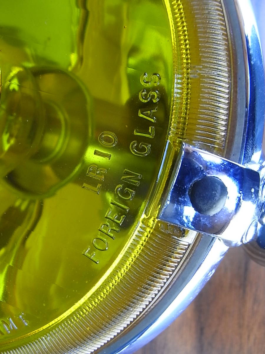 美品 LUCAS LR10 レアなイエロー スポットランプ 6インチ ルーカス / BMC MINI MG LOTUS ミニ AUSTIN MORRIS ADO16 TRIUMPH バンプラ_画像6