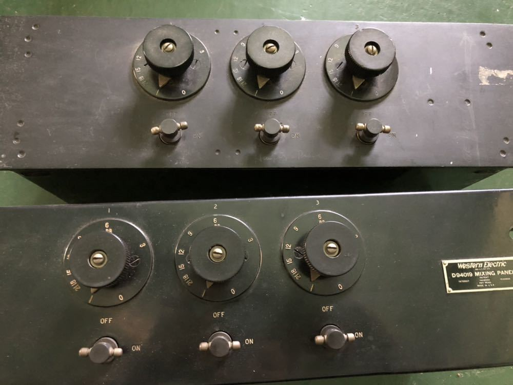Western Electric  D94019 ミキシングPANEL 初期録音機材 ペア 2台_画像2