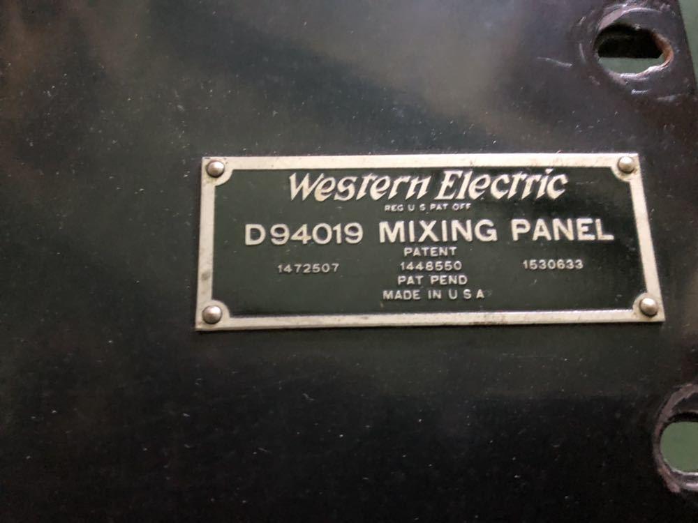 Western Electric  D94019 ミキシングPANEL 初期録音機材 ペア 2台_画像3