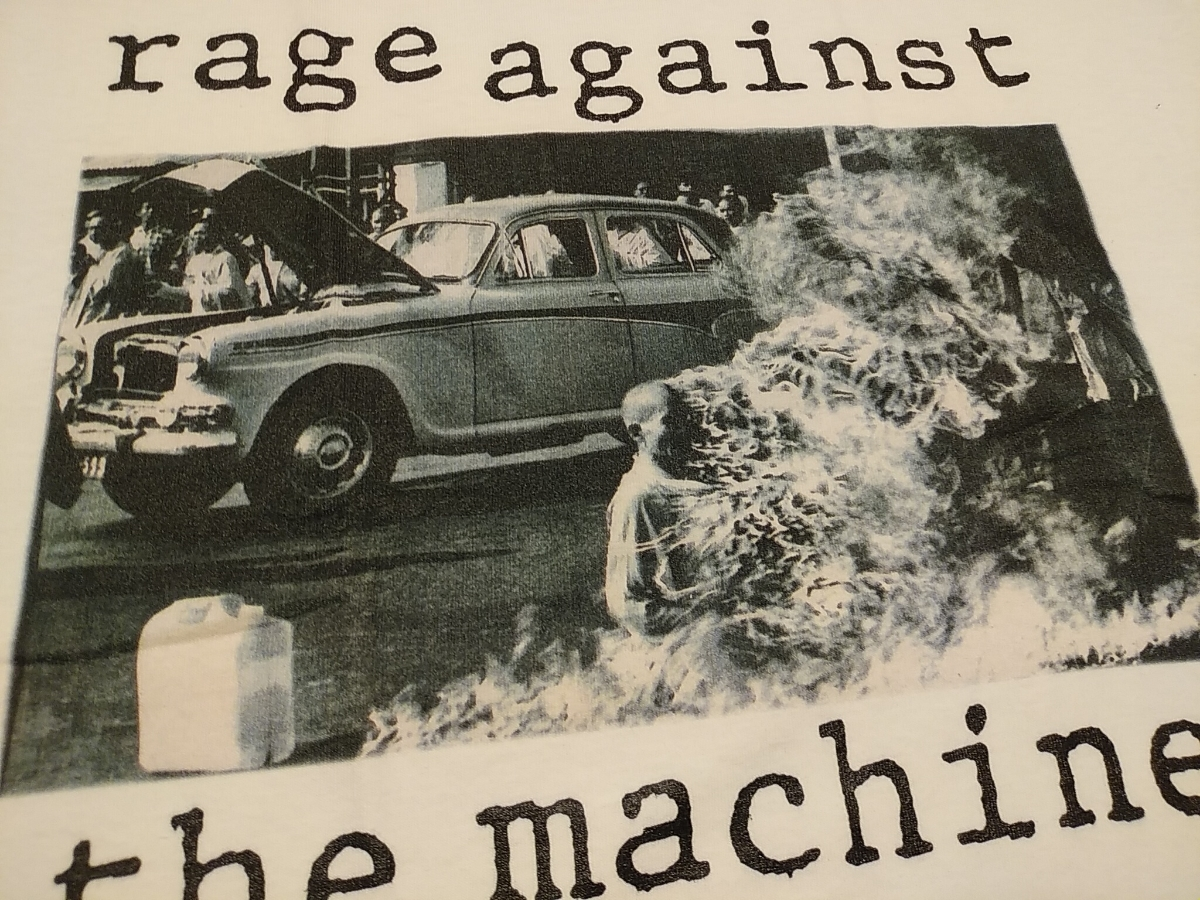 RAGE AGAINST THE MACHINE Tシャツ Bombtrack 白L レイジ・アゲインスト・ザ・マシーン / red hot chili peppers cypress hill nwa_画像2