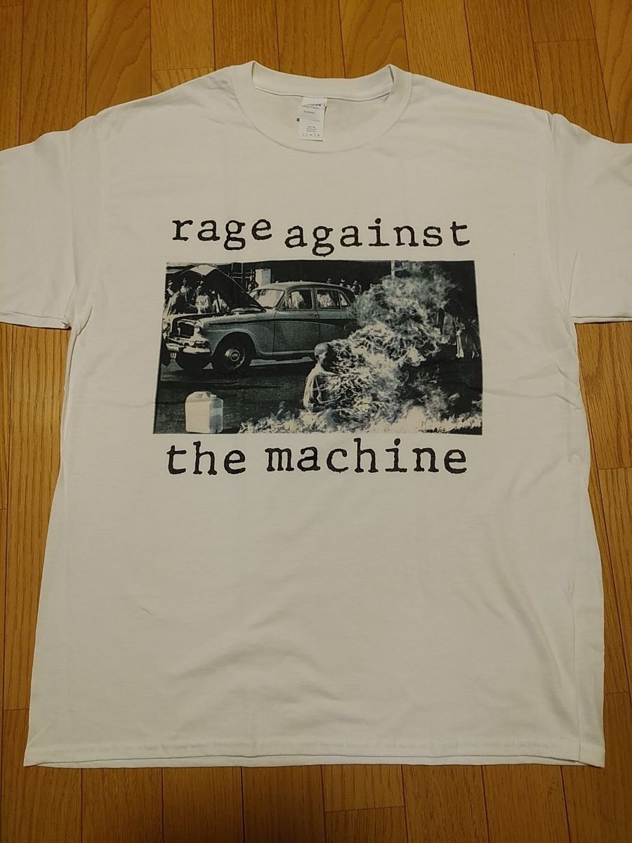 RAGE AGAINST THE MACHINE Tシャツ Bombtrack 白L レイジ・アゲインスト・ザ・マシーン / red hot chili peppers cypress hill nwa_画像1