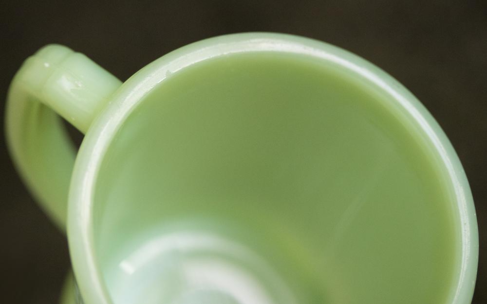 ファイヤーキング マグ ジェダイ Dハンドル 1940年代 ミルクガラス コーヒー アメリカ製 ビンテージ アンティーク_画像5