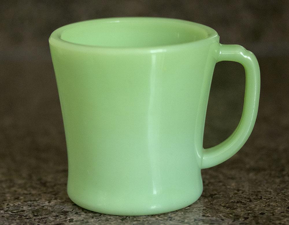 初期型! ファイヤーキング マグ ジェダイ Dハンドル 1940年代 ミルクガラス コーヒー アメリカ製 ビンテージ アンティーク