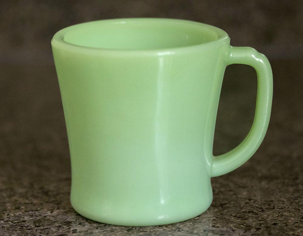 ファイヤーキング マグ ジェダイ Dハンドル 1940年代 ミルクガラス コーヒー アメリカ製 ビンテージ アンティーク