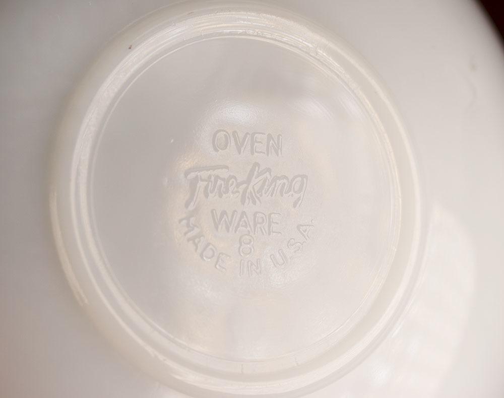 レア!ファイヤーキング ジェーンレイ ホワイト ゴールドリム デミタス カップ&ソーサー 1950年 耐熱 ミルクグラス コーヒー エスプレッソ_画像6