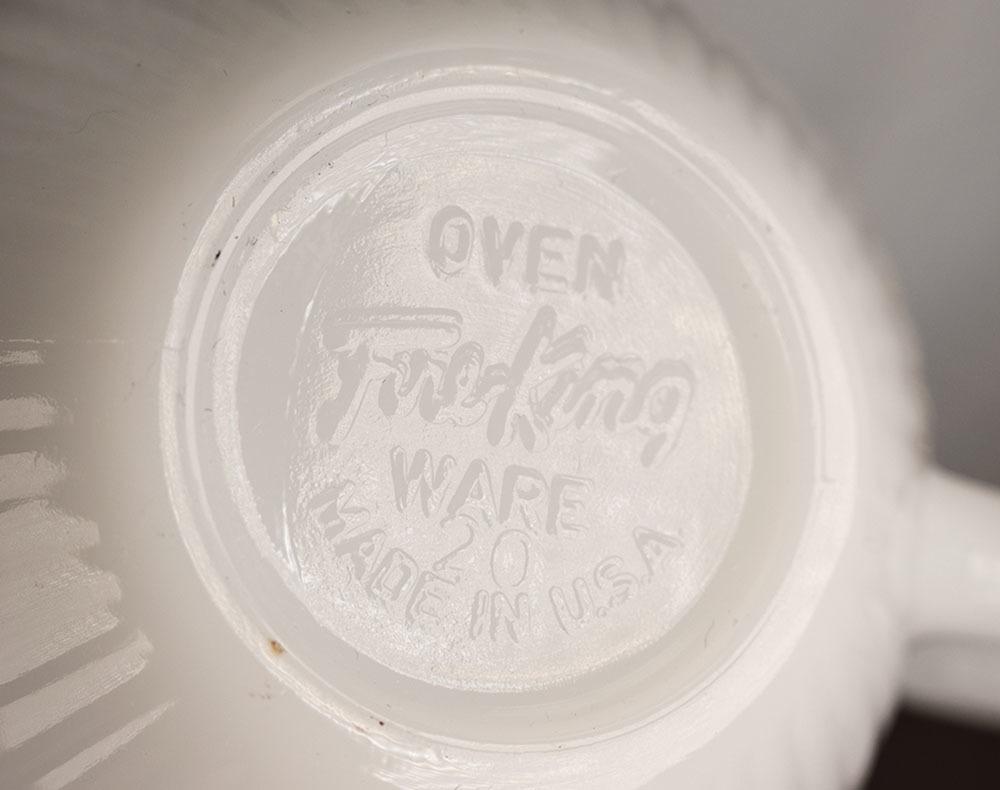 レア!ファイヤーキング ジェーンレイ ホワイト ゴールドリム デミタス カップ&ソーサー 1950年 耐熱 ミルクグラス コーヒー エスプレッソ_画像3