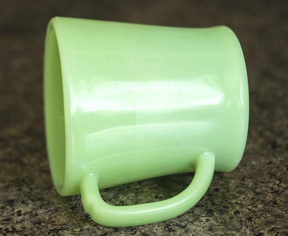 初期型! ファイヤーキング マグ ジェダイ Dハンドル 1940年代 ミルクガラス コーヒー アメリカ製 ビンテージ アンティーク_画像2