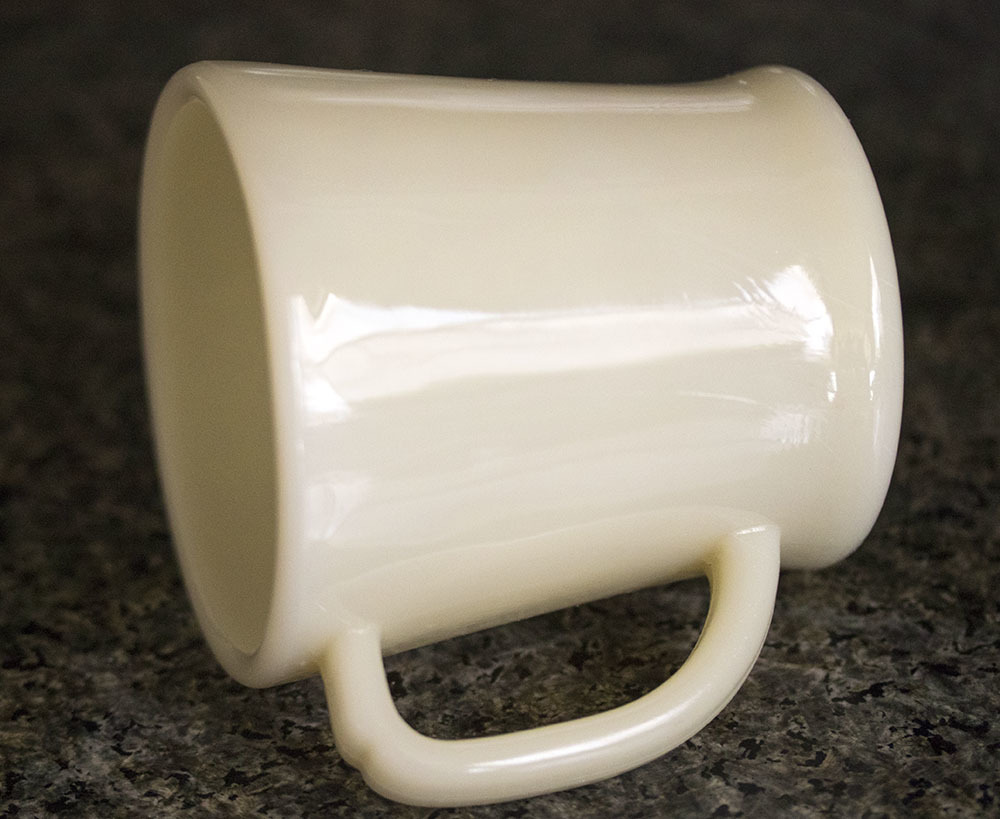 初期型! ファイヤーキング マグ アイボリー Dハンドル 1940年代 未使用! ミルクガラス コーヒー アメリカ製 ビンテージ アンティーク_画像2