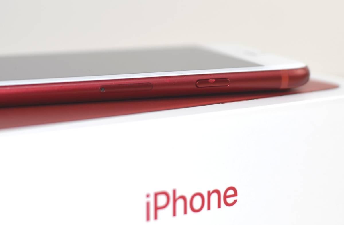 1円~SIMフリー iPhone7 128GB MPRX2J/A 82% 液晶綺麗!(PRODUCT)RED Special Edition 転売OK_画像6