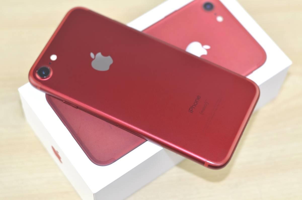 1円~SIMフリー iPhone7 128GB MPRX2J/A 82% 液晶綺麗!(PRODUCT)RED Special Edition 転売OK_画像5