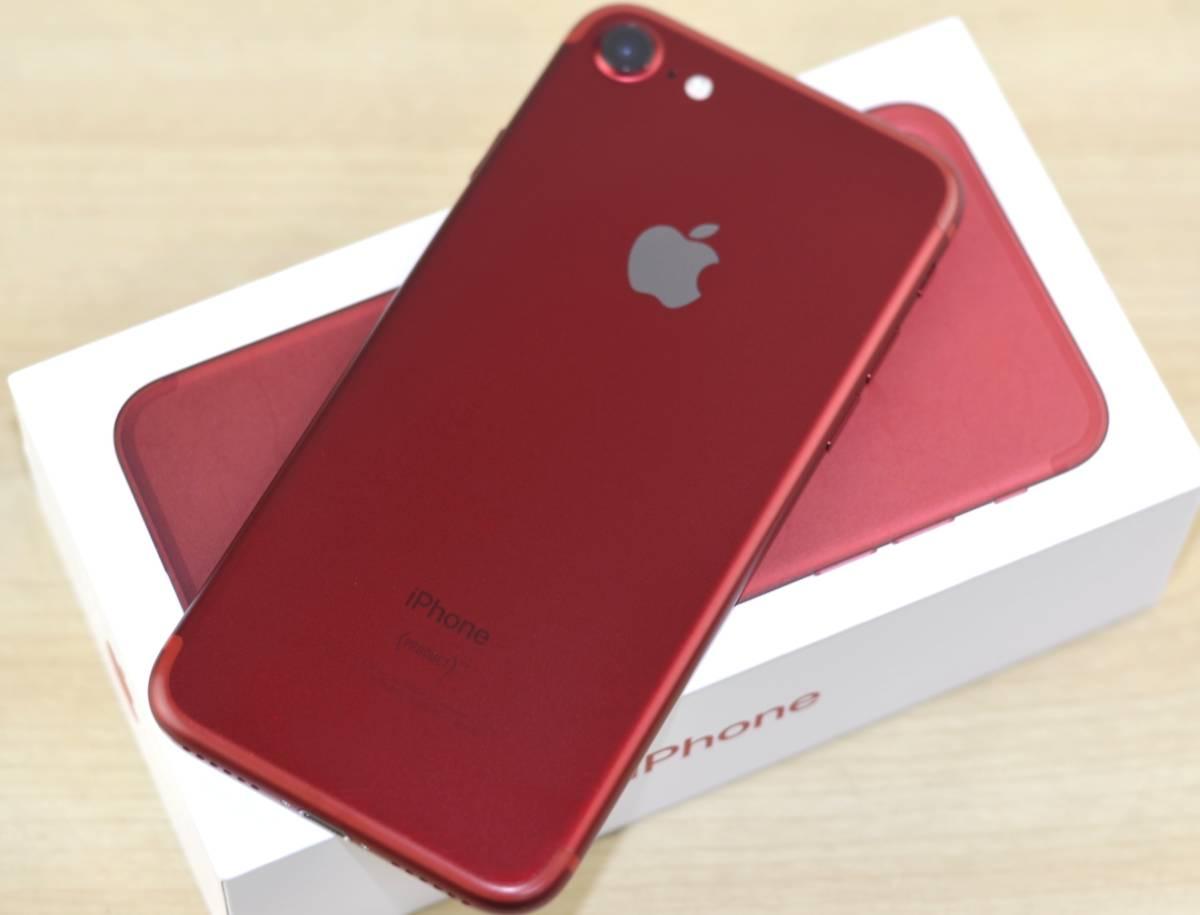 1円~SIMフリー iPhone7 128GB MPRX2J/A 82% 液晶綺麗!(PRODUCT)RED Special Edition 転売OK_画像4