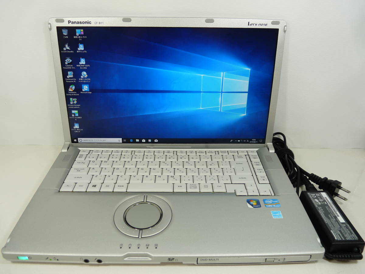 フルHD Panasonic ☆ Let's note CF-B11JWCYS ☆ i5-3320M 2.6GHz/320GB/4GB/Win10 ☆ AC付き パナソニック
