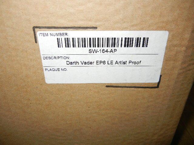 即決 中古 美品 マスターレプリカ LE AP ライトセーバー EP6 ダース ベイダー アーティスト プルーフ Master Replicas_画像7