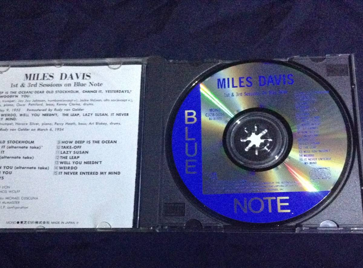 CD マイルス・デイビス MILES DAVIS/ Complete 1st&3rd Sessions On Blue Note CJ28-5056_画像2