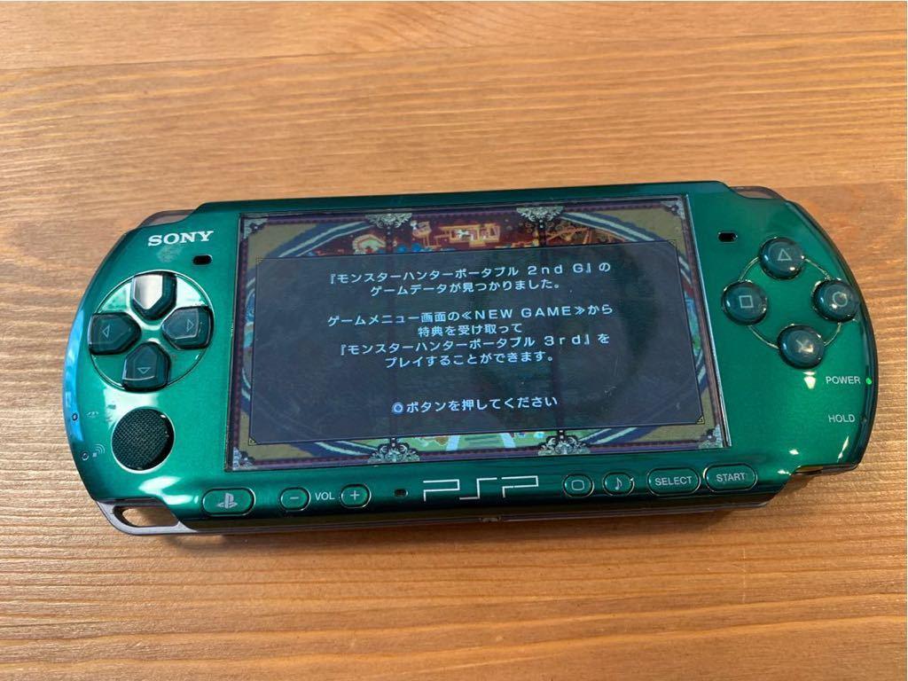 SONY/PSP 3000 本体/グリーン/通電確認 初期化済み/ソニー_画像6