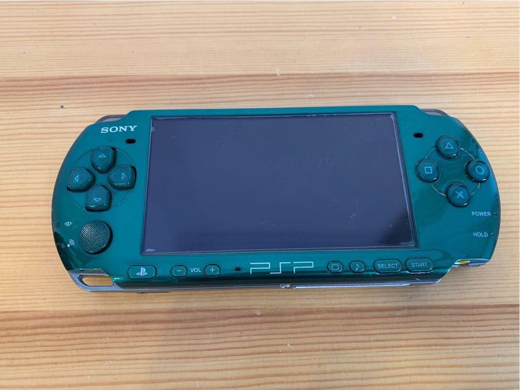 SONY/PSP 3000 本体/グリーン/通電確認 初期化済み/ソニー_画像2