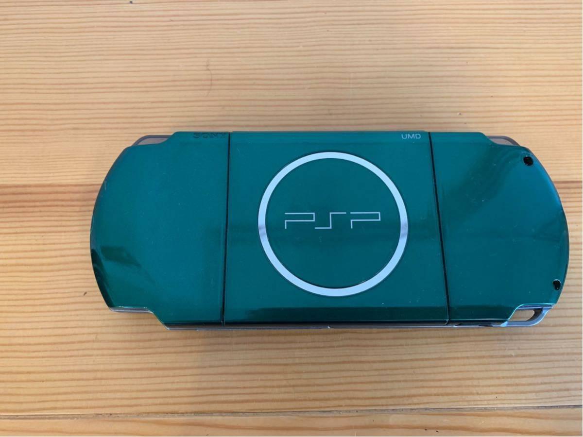 SONY/PSP 3000 本体/グリーン/通電確認 初期化済み/ソニー_画像4
