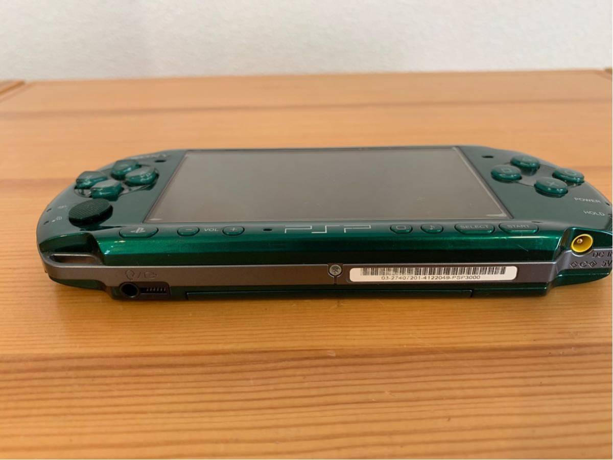 SONY/PSP 3000 本体/グリーン/通電確認 初期化済み/ソニー_画像3
